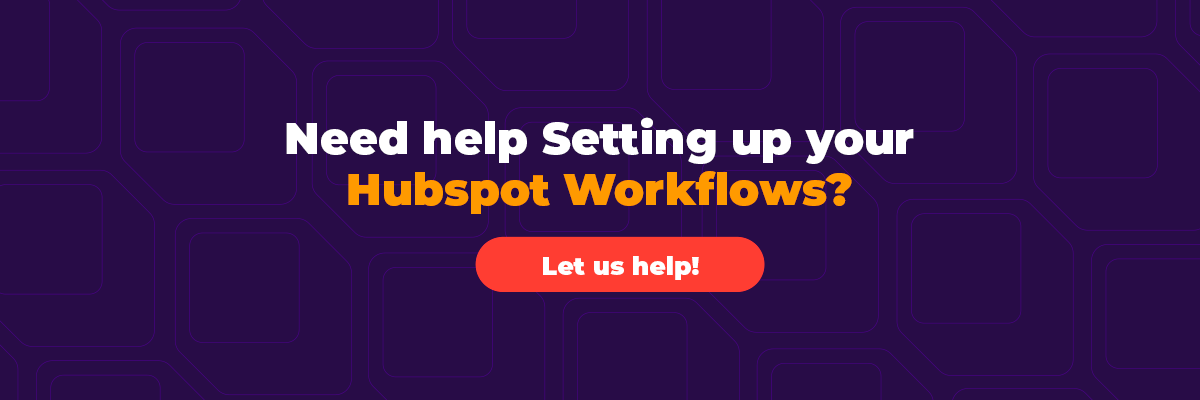Set up your workflows with hubspot