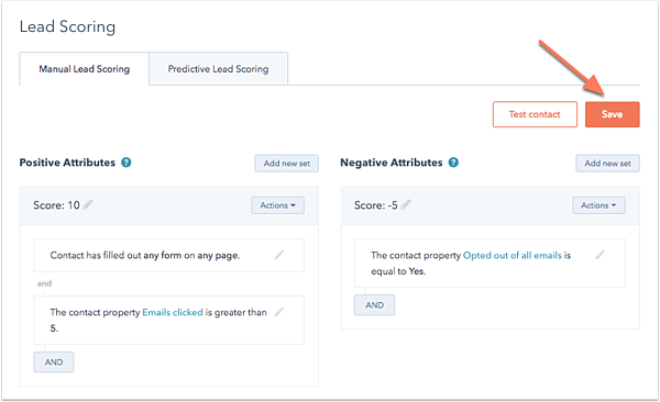 Lead Scoring with Hubspot